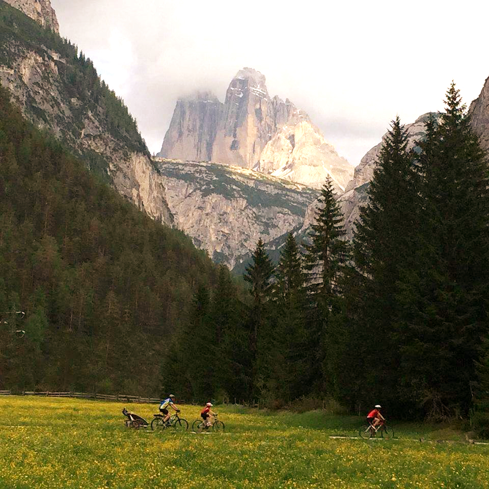 Dolomites Biking Underneath Tre Crime